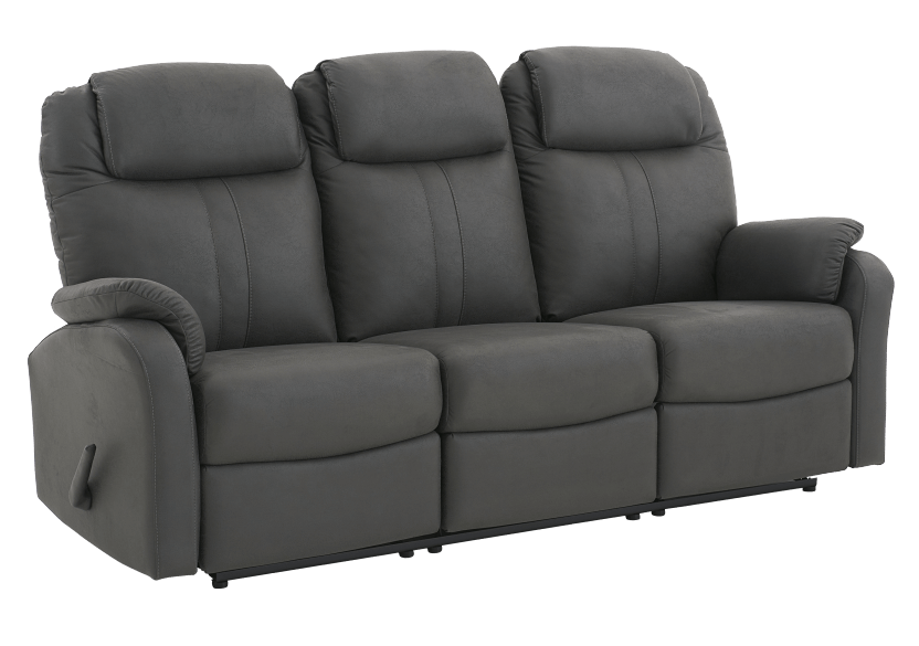 Fabric Reclining Sofa - Dark Grey product photo other01 L