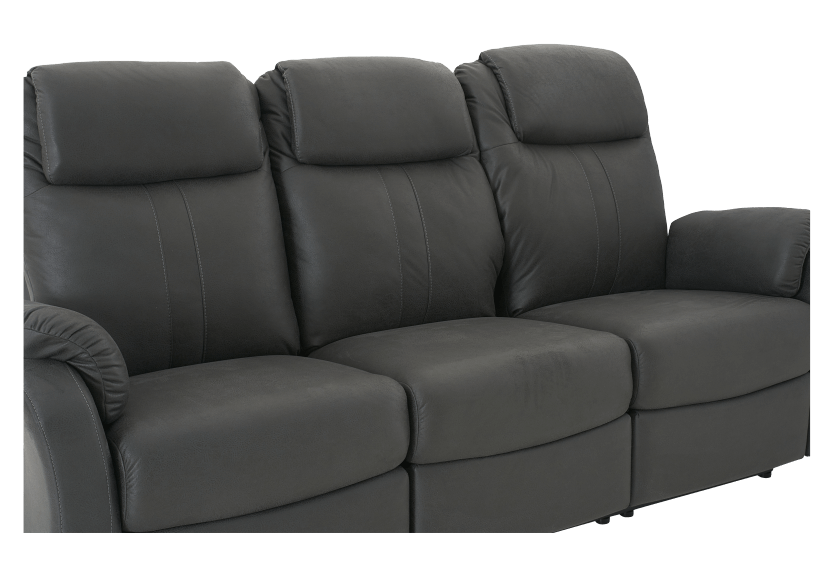 Fabric Reclining Sofa - Dark Grey product photo other06 L