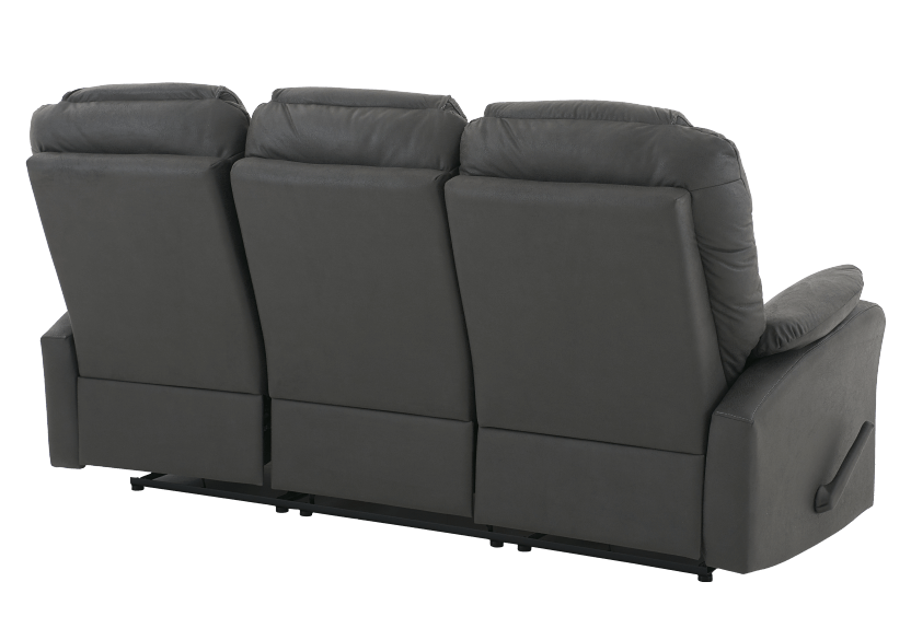 Fabric Reclining Sofa - Dark Grey product photo other08 L