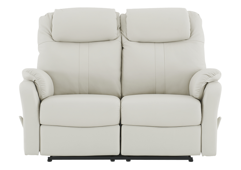 Reclining Loveseat with Genuine Leather Seats - Ivory product photo