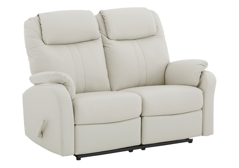 Reclining Loveseat with Genuine Leather Seats - Ivory product photo other01 L