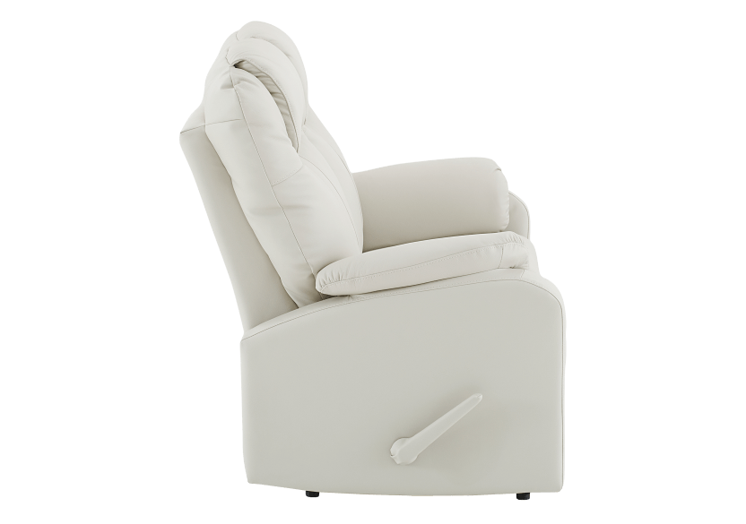 Reclining Loveseat with Genuine Leather Seats - Ivory product photo other02 L