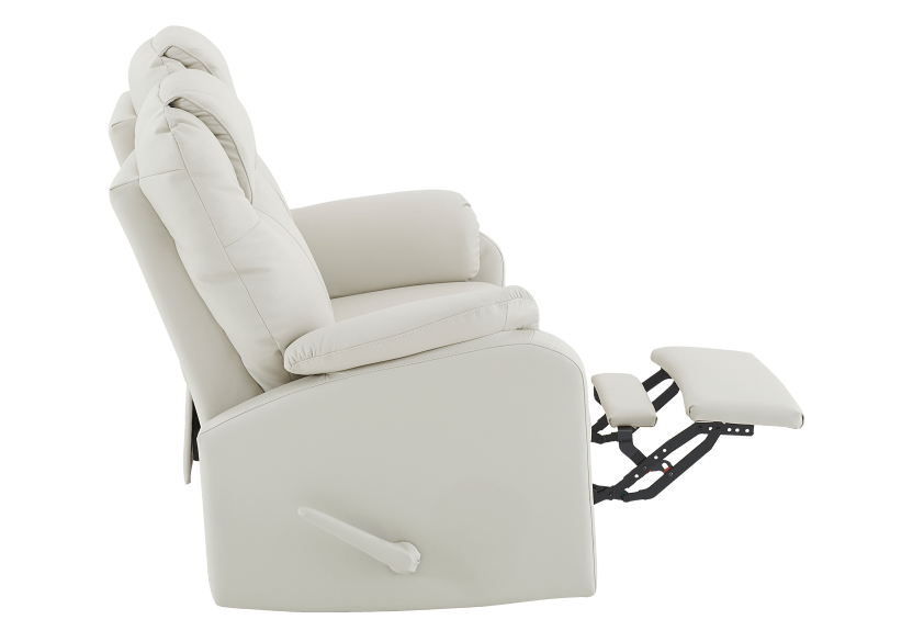 Reclining Loveseat with Genuine Leather Seats - Ivory product photo other04 L