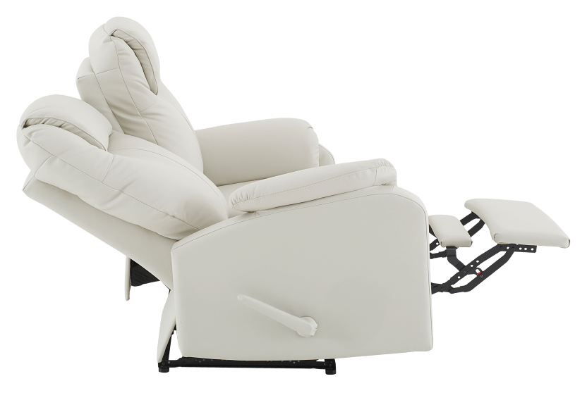 Reclining Loveseat with Genuine Leather Seats - Ivory product photo other05 L
