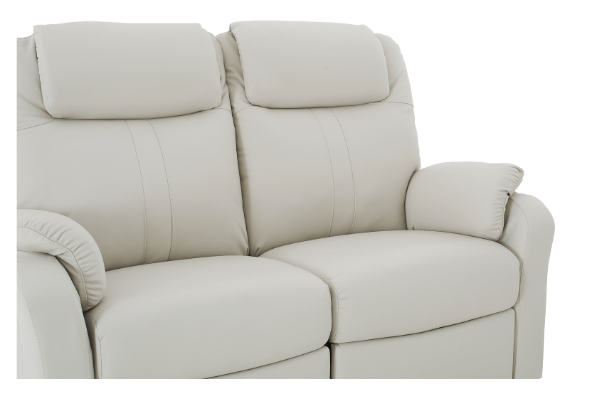 Reclining Loveseat with Genuine Leather Seats - Ivory product photo other06 L