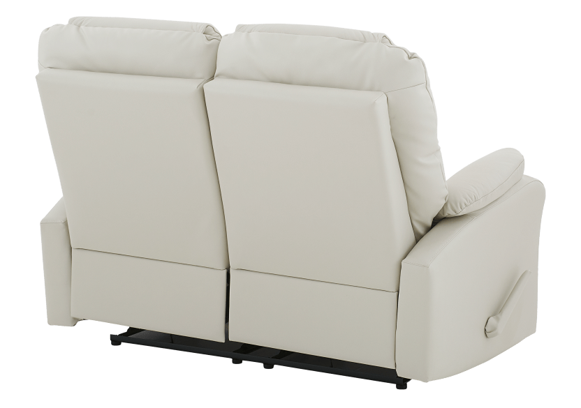 Reclining Loveseat with Genuine Leather Seats - Ivory product photo other08 L