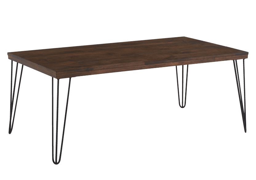 Coffee Table with Metal Legs - Brown and Black product photo Front View L