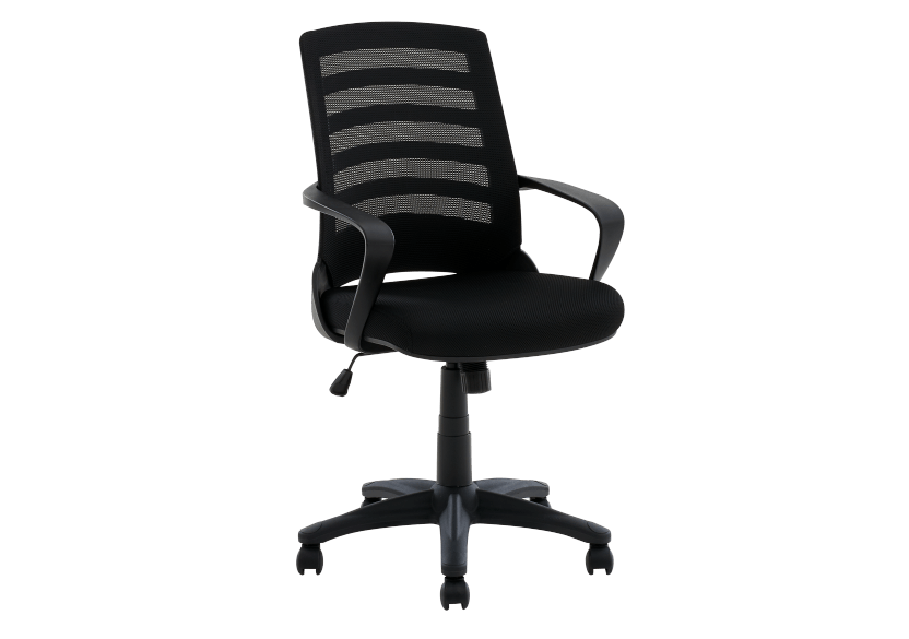 Computer Chair with Wheels - Black product photo Front View L