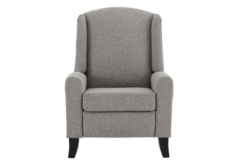 Fabric Recliner - Grey product photo Front View L