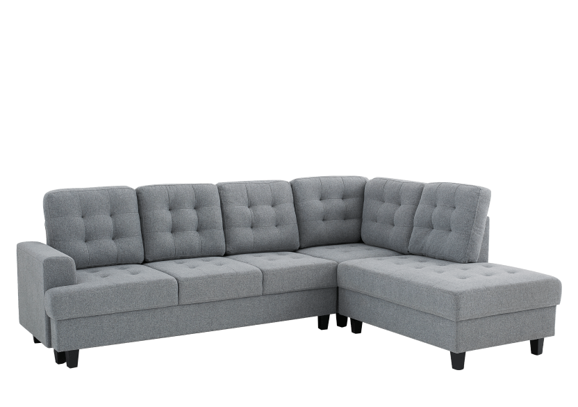 Fabric Sectional Sofa - Grey product photo other01 L
