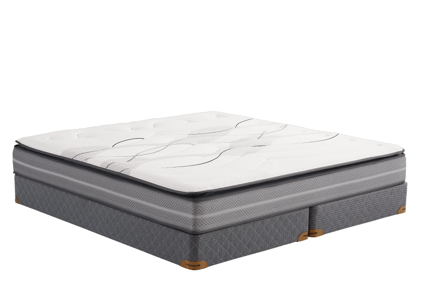 "King Size 8"" Mattress and Box Spring Set - Chloe2 Primo Matelas product photo Front View L"