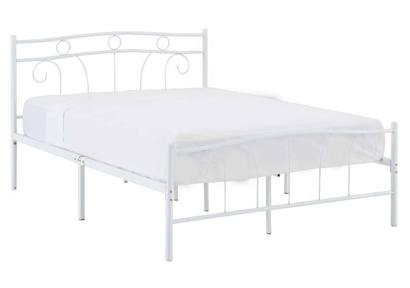 Metal Bed - White - Full Size product photo