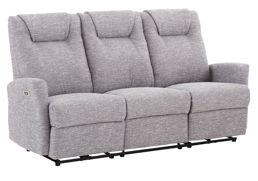 Reclining Electric Fabric Sofa - Grey product photo other01 L