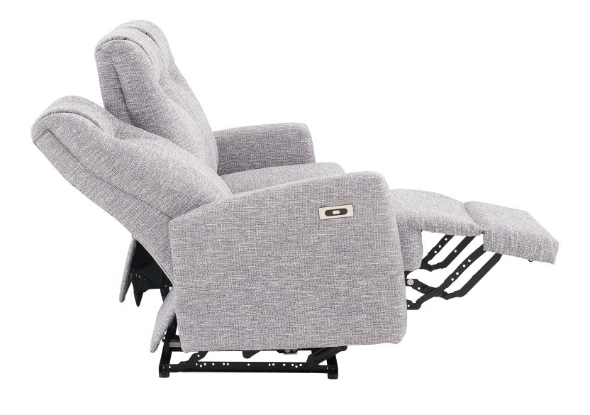 Reclining Electric Fabric Sofa - Grey product photo other05 L