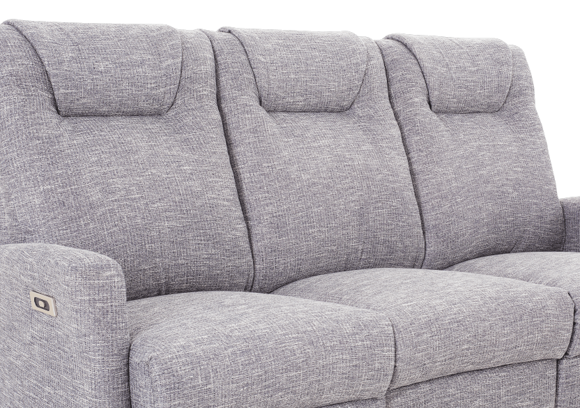 Reclining Electric Fabric Sofa - Grey product photo other06 L