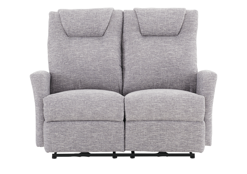 Reclining Battery Motorized Fabric Loveseat - Grey product photo