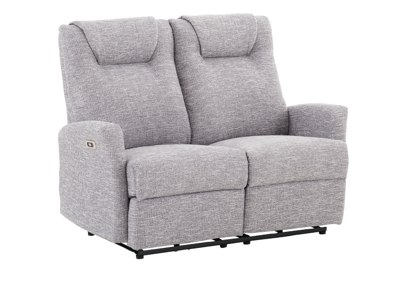 Reclining Battery Motorized Fabric Loveseat - Grey product photo other01 L