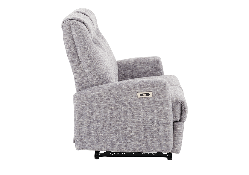 Reclining Battery Motorized Fabric Loveseat - Grey product photo other02 L