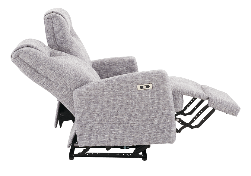 Reclining Battery Motorized Fabric Loveseat - Grey product photo other05 L