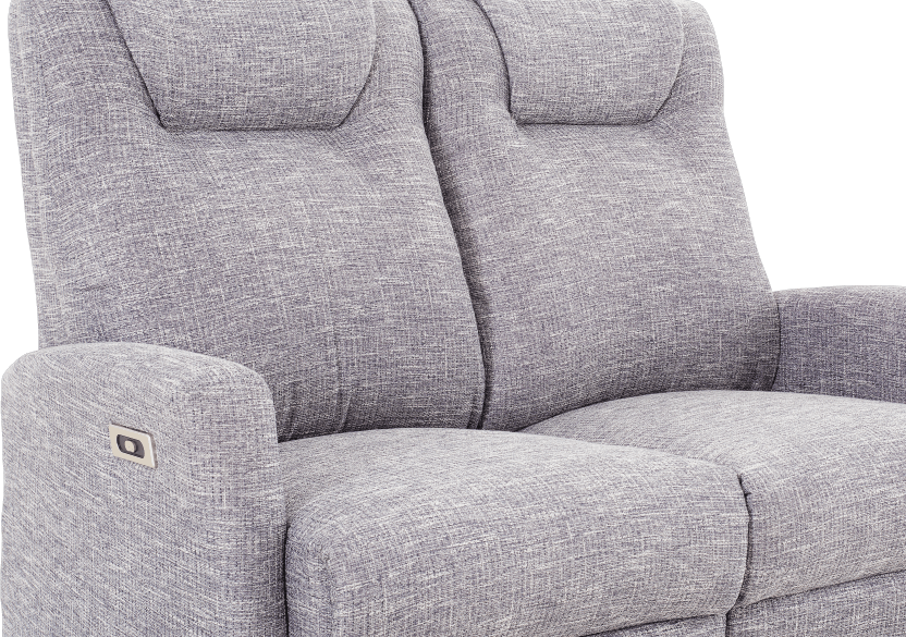 Reclining Battery Motorized Fabric Loveseat - Grey product photo other06 L