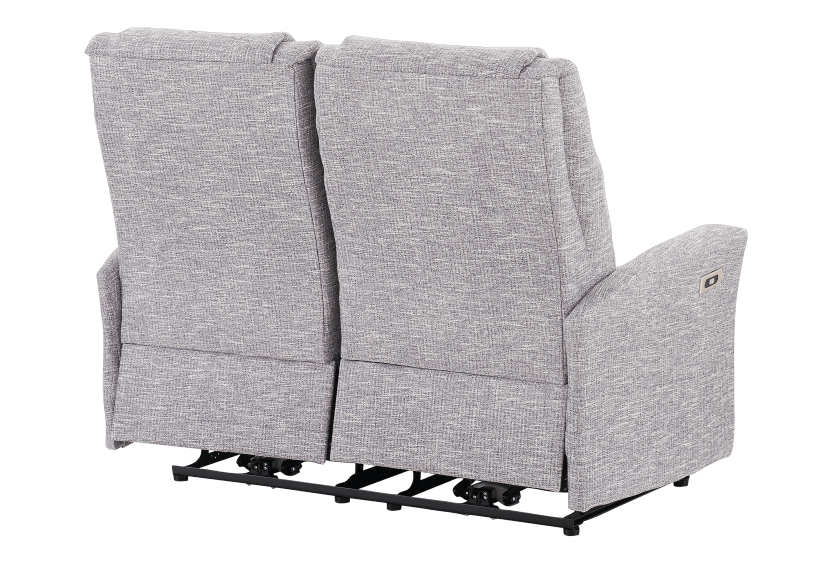 Reclining Battery Motorized Fabric Loveseat - Grey product photo other08 L