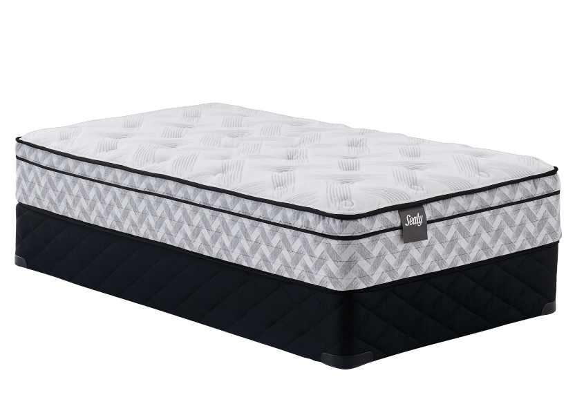 "Twin Size 9"" Mattress and Box Spring Set - Rubis Sealy product photo Front View L"