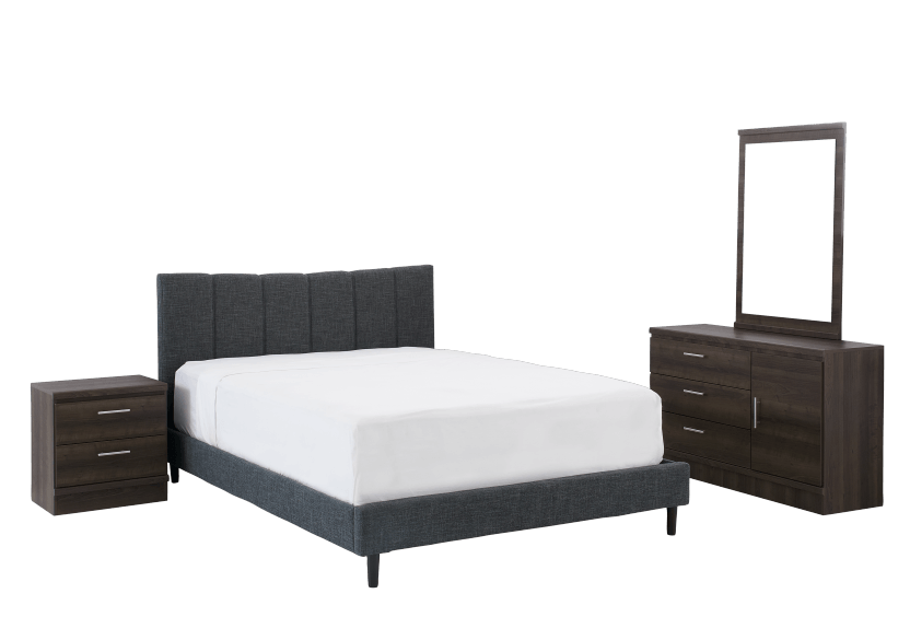 Bedroom Set - Brown Grey - Queen Size product photo Front View L