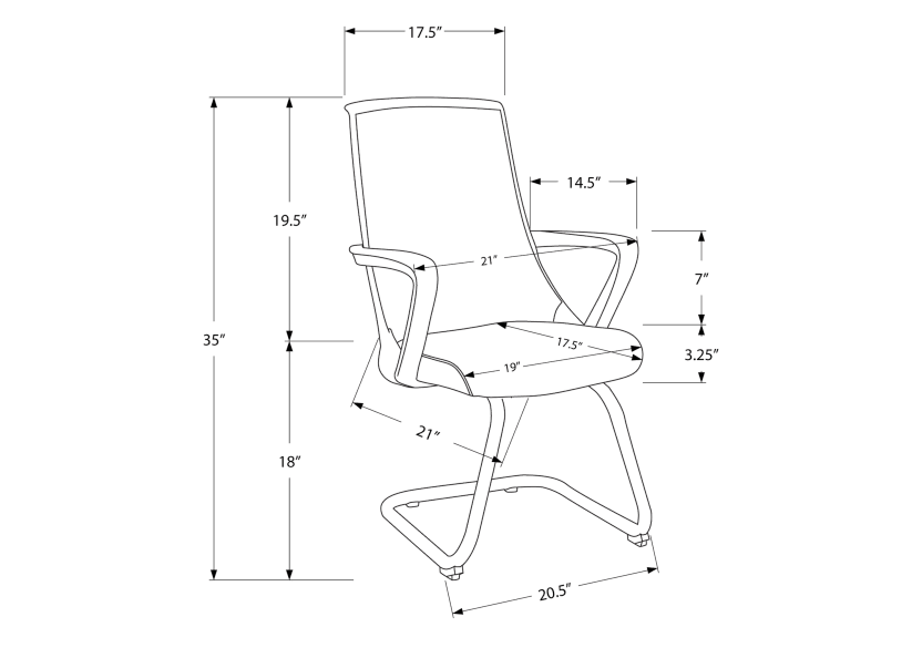Computer Chair - Black product photo other03 L