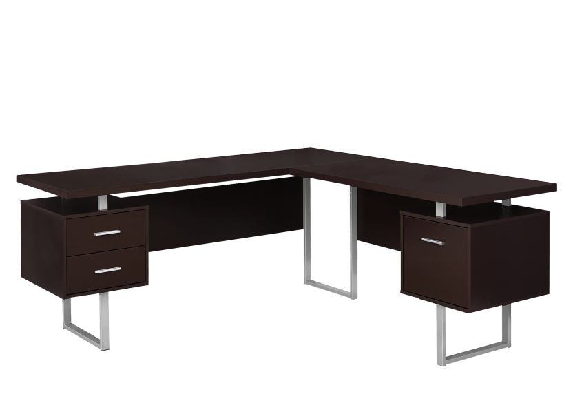 Desk - Dark Brown product photo Front View L
