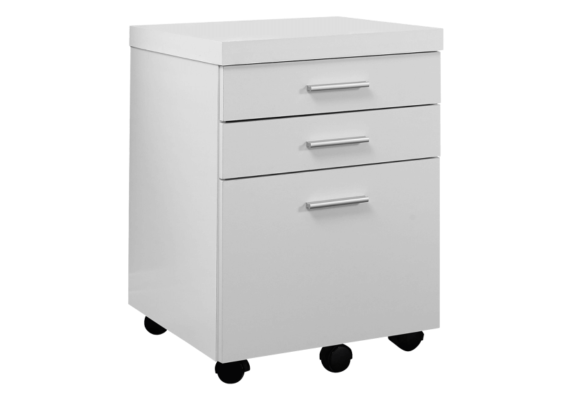 Filing Cabinet with Wheels - White and Black product photo