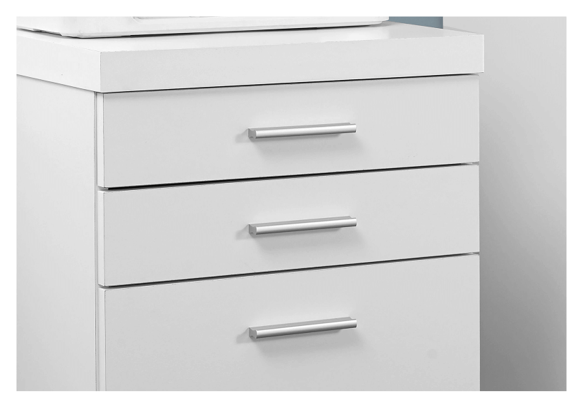 Filing Cabinet with Wheels - White and Black product photo other01 L
