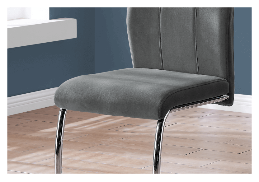 Chair with Metal Legs - Dark Grey and Silver Grey product photo other01 L