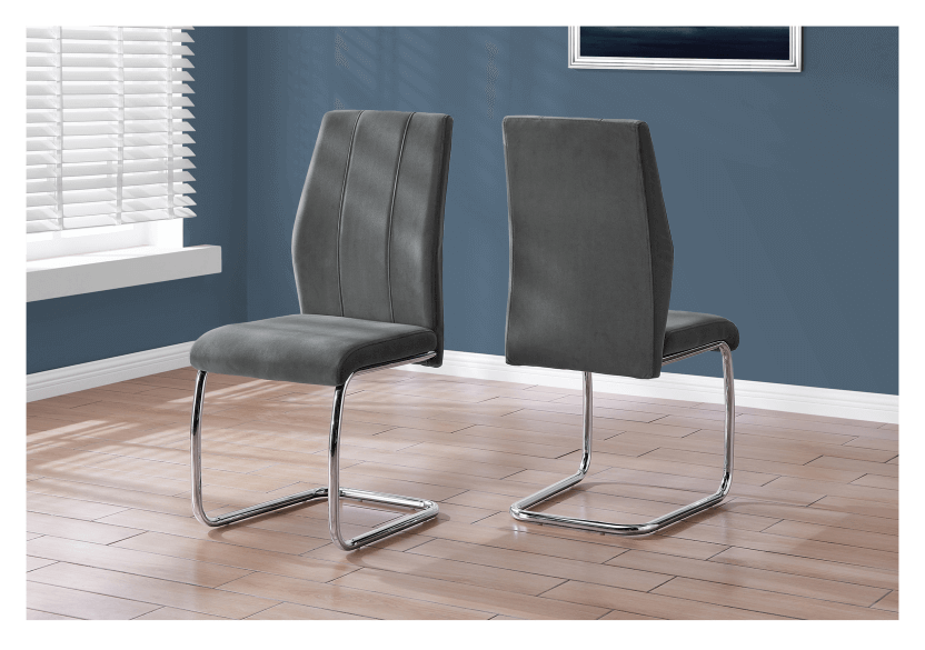 Chair with Metal Legs - Dark Grey and Silver Grey product photo other04 L