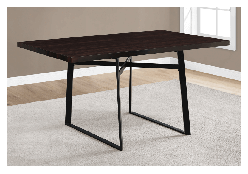 Table with Metal Legs - Dark Brown and Black product photo other01 L