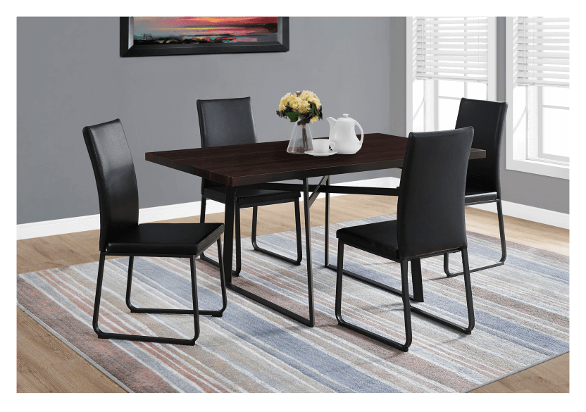 Table with Metal Legs - Dark Brown and Black product photo other04 L