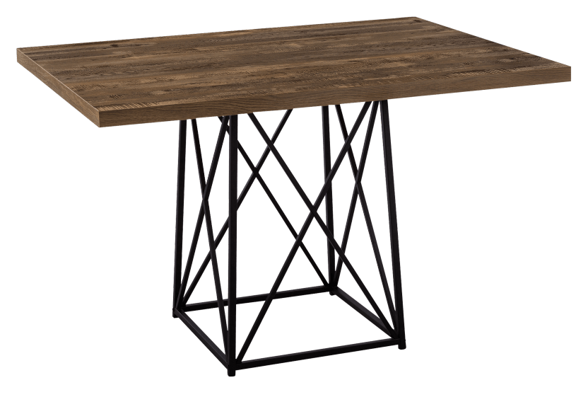 Table with Metal Legs - Beige and Black product photo