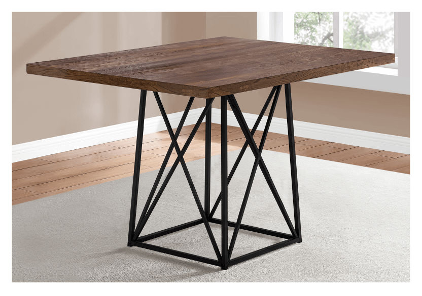 Table with Metal Legs - Beige and Black product photo other01 L