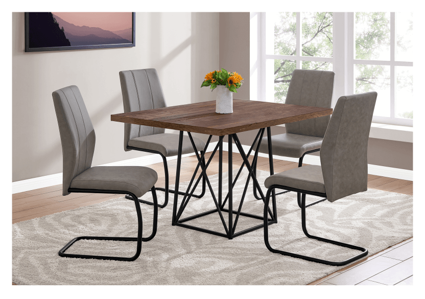 Table with Metal Legs - Beige and Black product photo other04 L