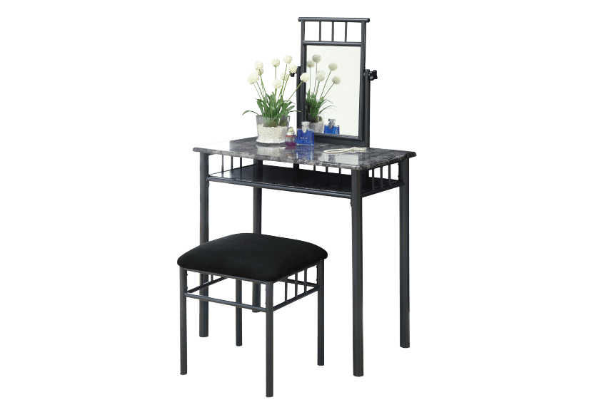Metal Dressing Table - Dark Grey product photo