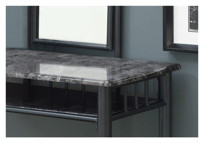 Metal Dressing Table - Dark Grey product photo other01 L