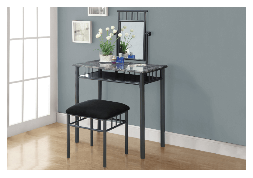 Metal Dressing Table - Dark Grey product photo other04 L