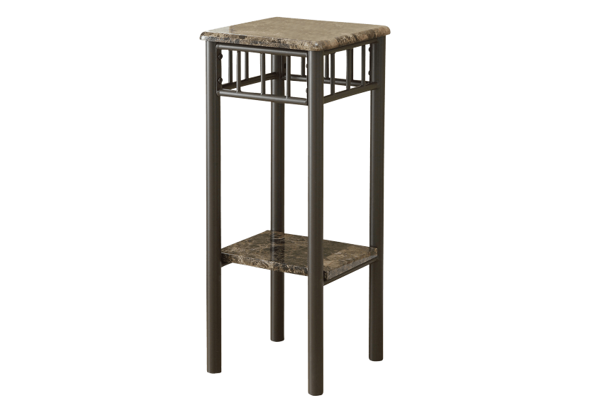 Side Table with Metal Legs - Dark Brown product photo