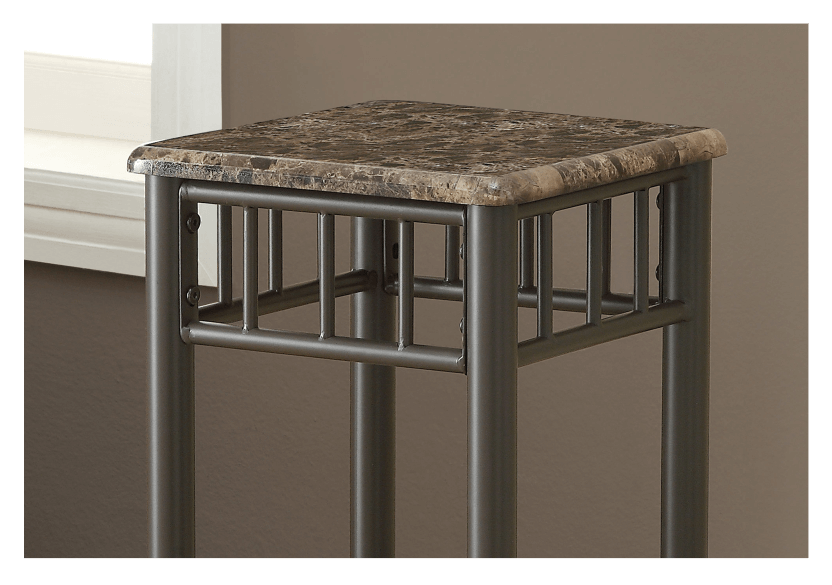 Side Table with Metal Legs - Dark Brown product photo other01 L