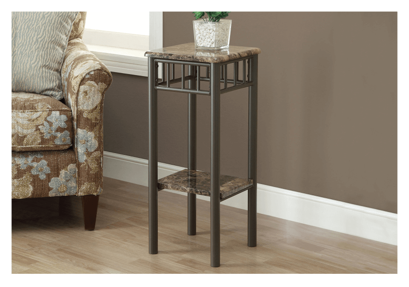 Side Table with Metal Legs - Dark Brown product photo other04 L