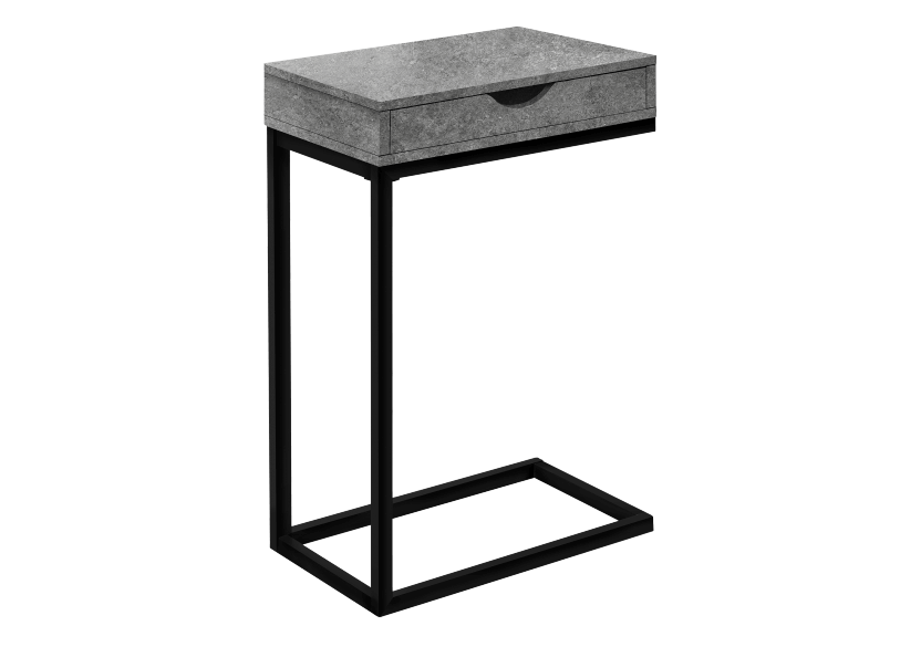 Side Table with Metal Legs - Grey and Black product photo