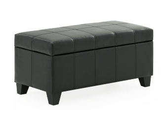 Bella Storage Ottoman - Black product photo