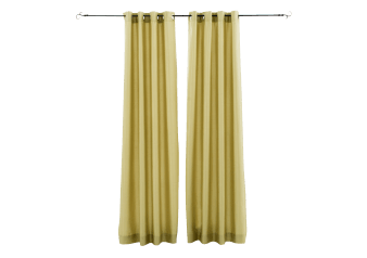 "54X96"" Set of 2 Eyelet Curtains - Green product photo"