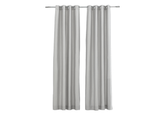 "54X96"" Curtain Set - Silver product photo"