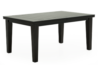 Rectangular Table with Leaf - Black product photo