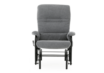 Rocking Fabric Recliner - Grey product photo